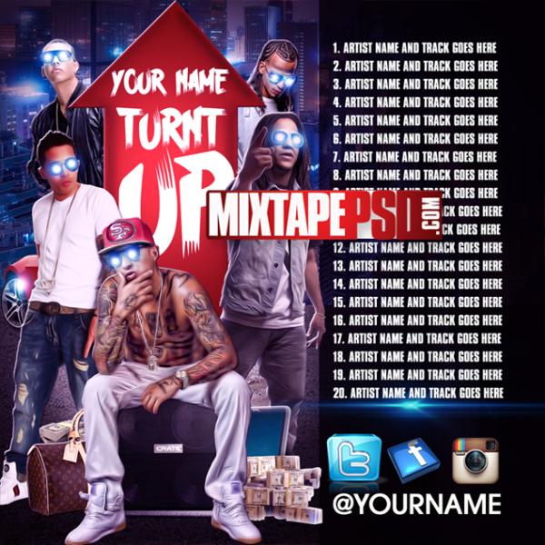 Mixtape Template Latinos Turnt Up