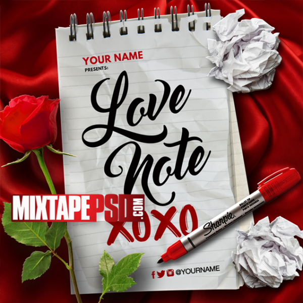 Mixtape Cover Template Love Note 2, Album Covers, Graphic Design, Graphic Designer, How to Make a Mixtape Cover, Mixtape, Mixtape cover Maker, Mixtape Cover Templates, Mixtape Covers, Mixtape Designer, Mixtape Designs, Mixtape PSD, Mixtape Templates, Mixtapepsd, Mixtapes, Premade Mixtape Covers, Premade Single Covers, PSD Mixtape, Custom Mixtape Covers