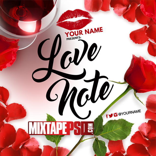 Mixtape Cover Template Love Notes
