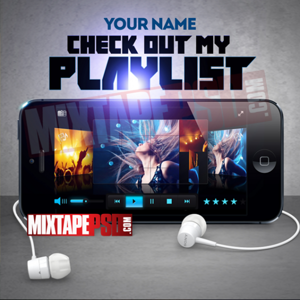 Mixtape Cover Template Check Out My Playlist