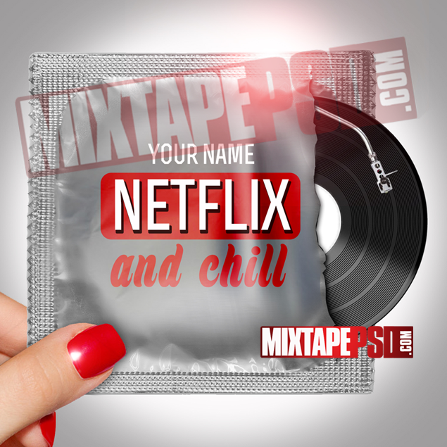Mixtape Cover Template Netflix and Chill