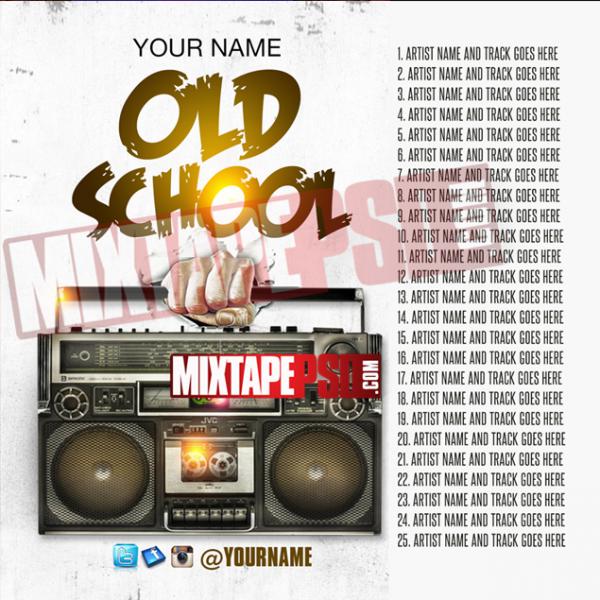 Mixtape Template Old School Hip Hop 6 w Track List