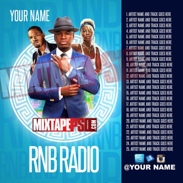 Mixtape Template RNB Radio 8 w Track Listing
