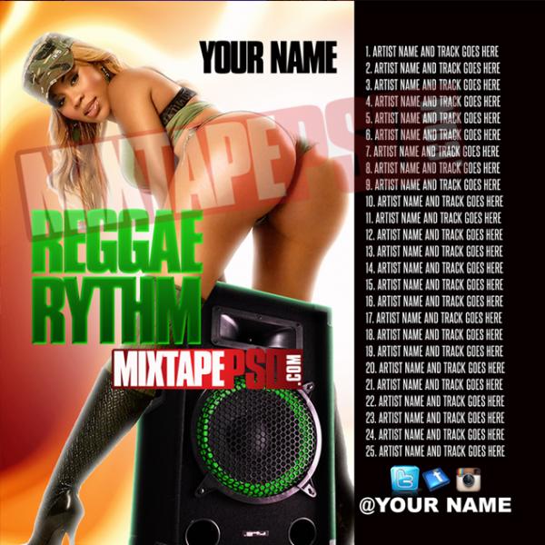Mixtape Template Reggae Rhythm w Track List