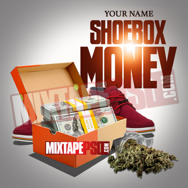 Mixtape Cover Template Shoe Box Money