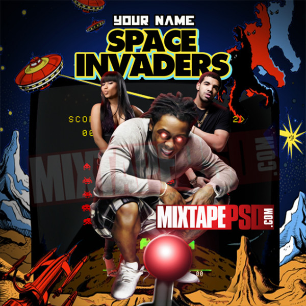 Mixtape Cover Template Space Invaders