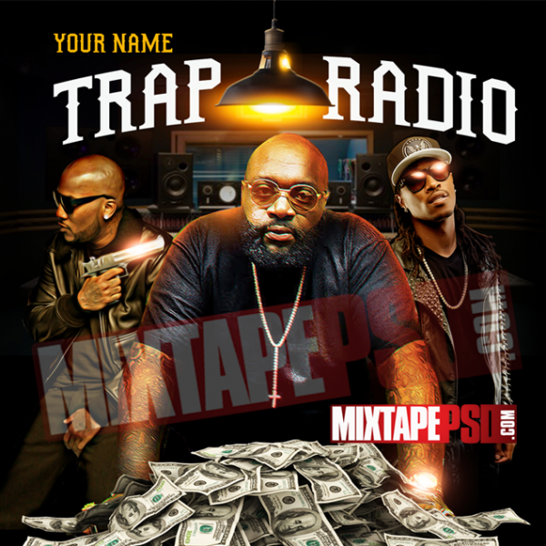 Mixtape Cover Template Trap Radio 2