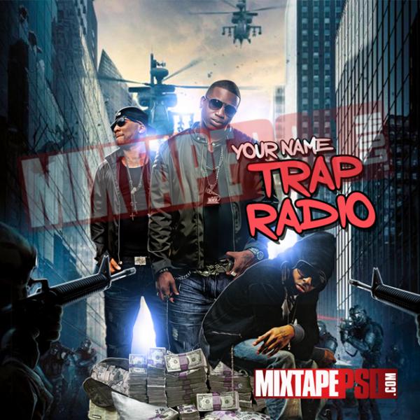 Mixtape Cover Template Trap Radio 3