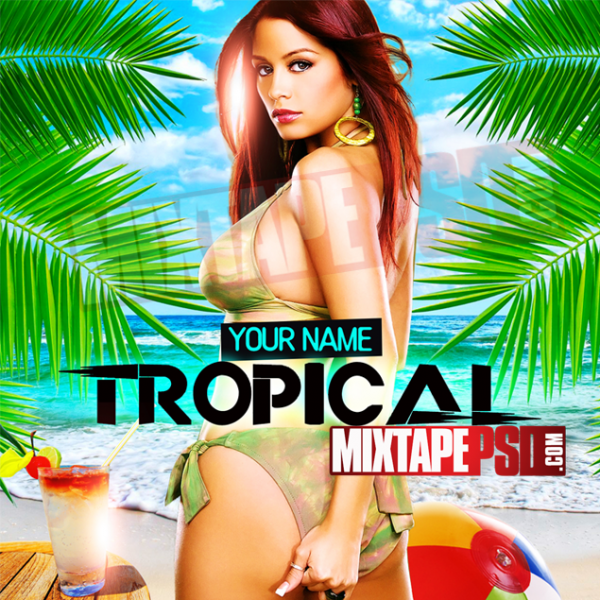 Mixtape Cover Template Tropical