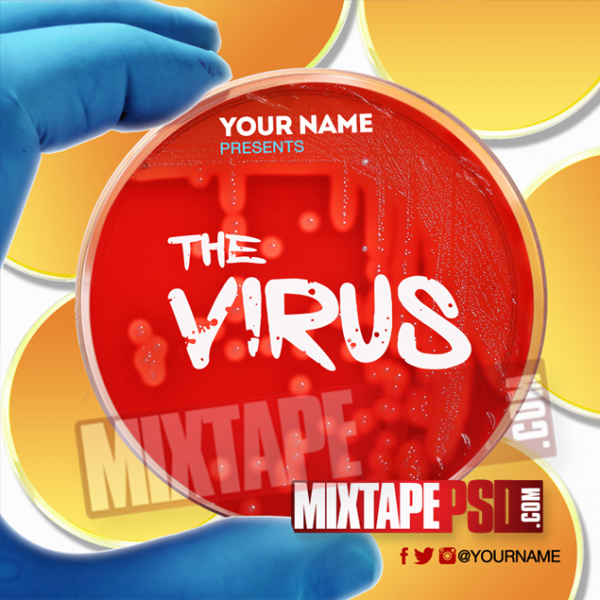 Mixtape Cover Template The Virus, Album Covers, Graphic Design, Graphic Designer, How to Make a Mixtape Cover, Mixtape, Mixtape cover Maker, Mixtape Cover Templates, Mixtape Covers, Mixtape Designer, Mixtape Designs, Mixtape PSD, Mixtape Templates, Mixtapepsd, Mixtapes, Premade Mixtape Covers, Premade Single Covers, PSD Mixtape, Custom Mixtape Covers