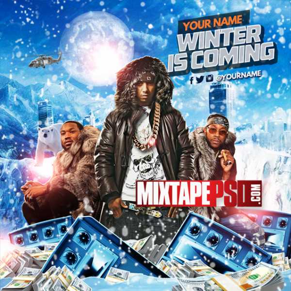 Mixtape Cover Template Winter is Coming, Album Covers, Graphic Design, Graphic Designer, How to Make a Mixtape Cover, Mixtape, Mixtape cover Maker, Mixtape Cover Templates, Mixtape Covers, Mixtape Designer, Mixtape Designs, Mixtape PSD, Mixtape Templates, Mixtapepsd, Mixtapes, Premade Mixtape Covers, Premade Single Covers, PSD Mixtape,