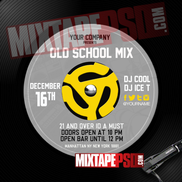 Old School Flyer PSD Template