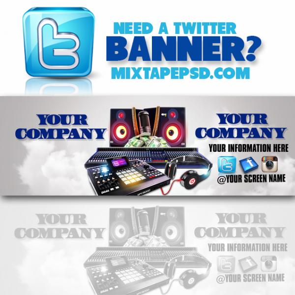 Twitter Banner Template 1