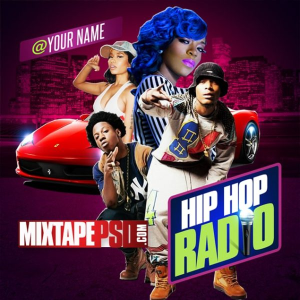 Free Mixtape Cover Template Hip Hop Radio 3