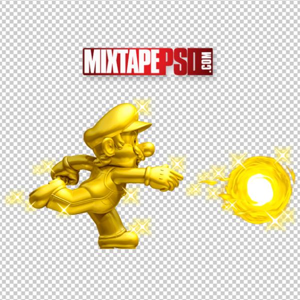 HD Golden Mario PNG Cut