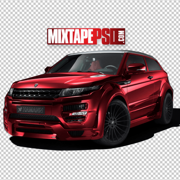 HD Red Range Rover Cut PNG