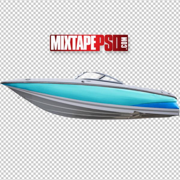 HD Speed Boat Cut PNG