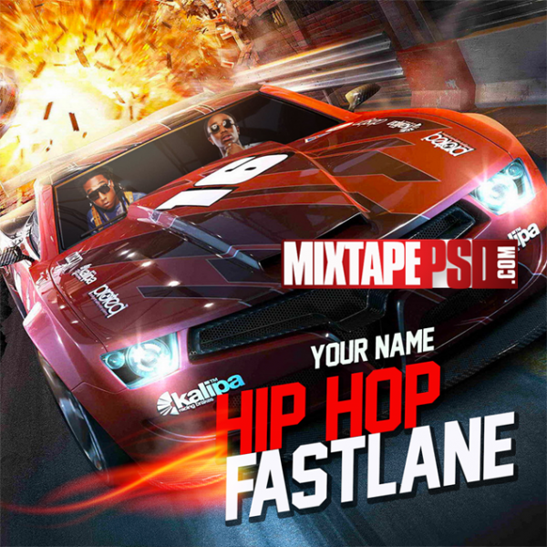 Free Mixtape Cover Template Hip Hop Fast lane