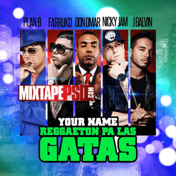 Free Mixtape Cover Template Reggaeton Pa La Gatas