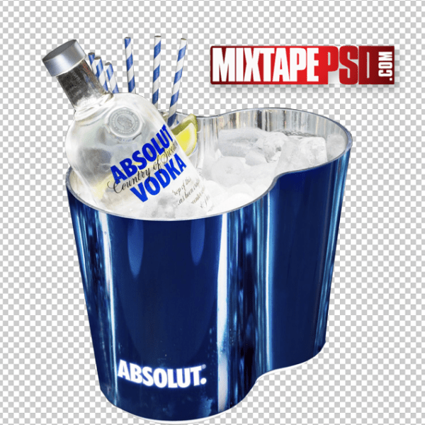 HD Chilled Absolut Vodka Bucket Cut PNG