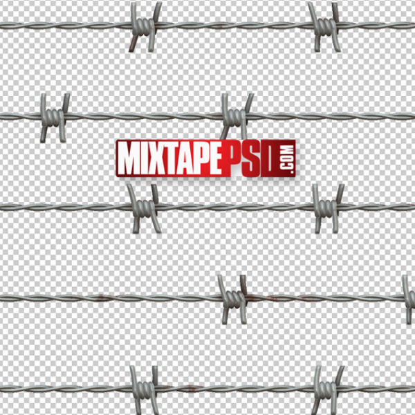 Barbwire Cut PNG 3