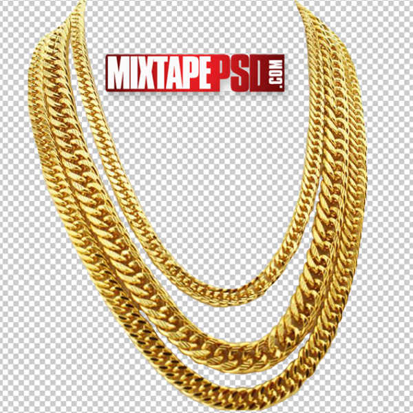Gold Chain PNG 4