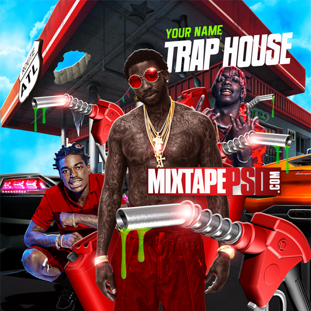 Mixtape Cover Template Trap House 2 Best Graphic Designs Mixtapepsds