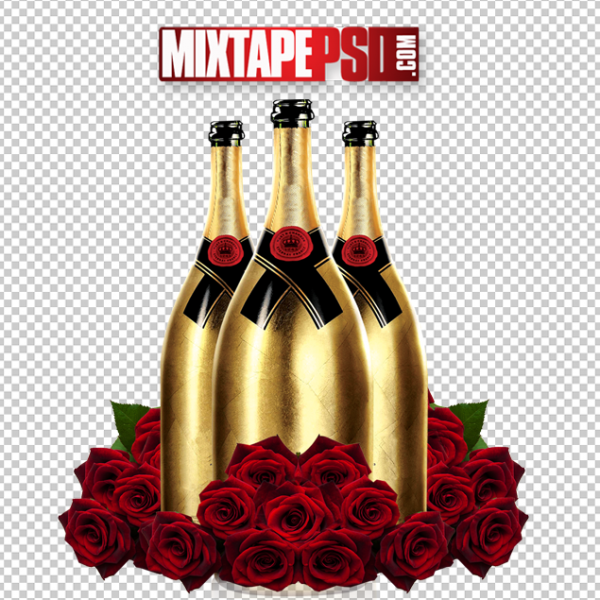 Moet Liquor Bottles Roses
