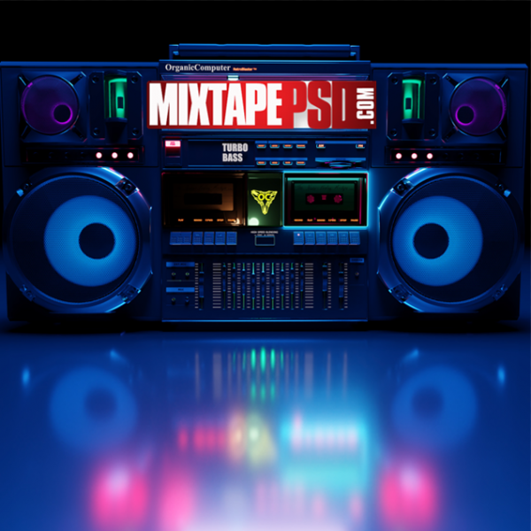 Neon Classic Boombox Radio Background