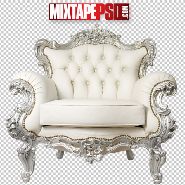 White Royalty Chair PNG