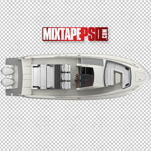 2 Engine Boat Top View
