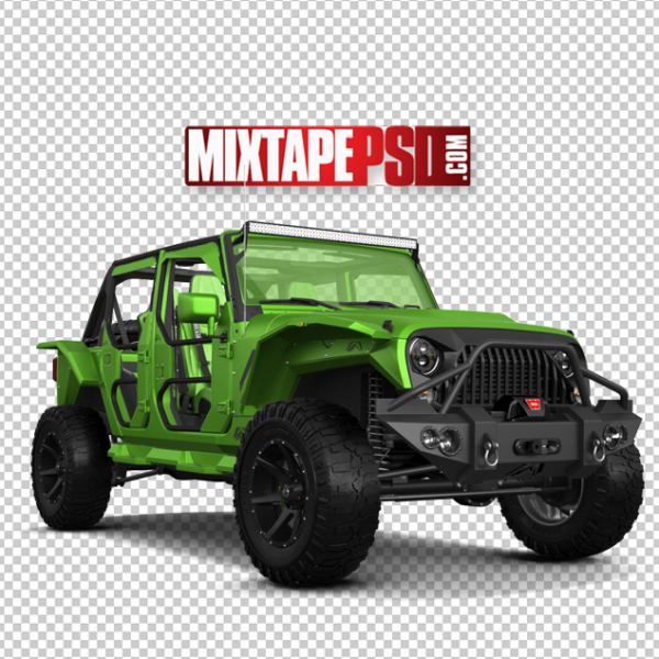 Green Off Road Jeep