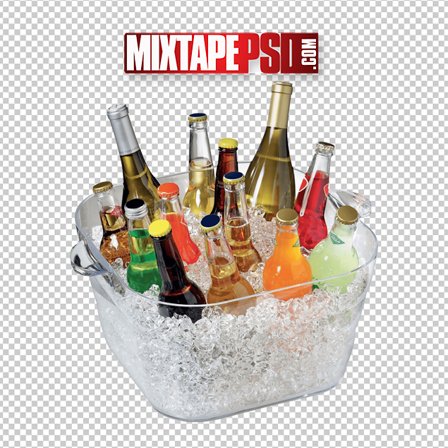 Ice Bucket Of Beer Drinks Wine Png Mixtapepsds Com
