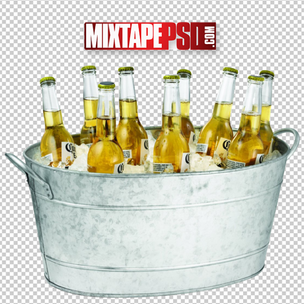 Ice Bucket of Coronas Bottles