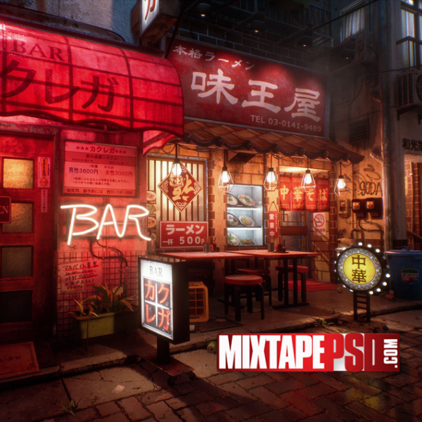 Japan Tokyo Street Background 2