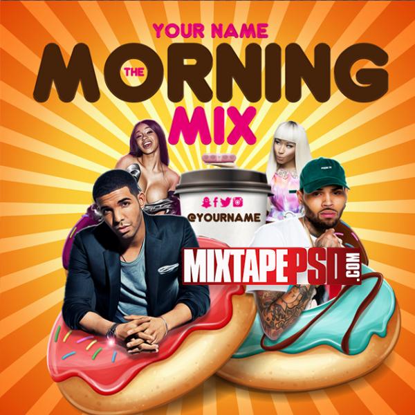 Mixtape Cover Template Morning Mix 2, Mixtapepsd, PSD Mixtape, Mixtape