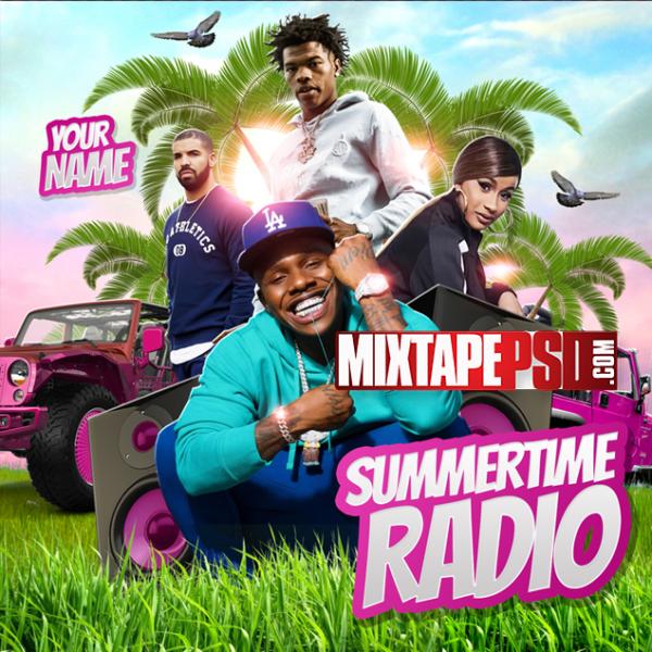 Mixtape Cover Template Summertime Radio