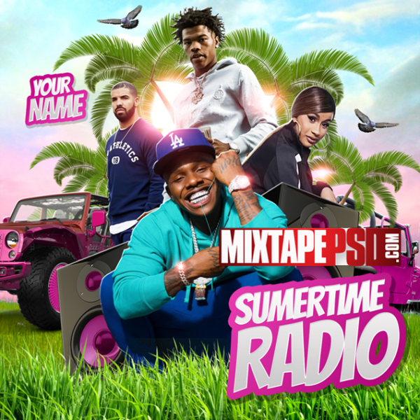 Mixtape Cover Template Summertime Radio