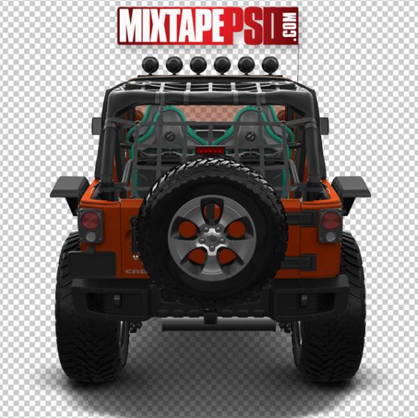 Orange Black Jeep Rear