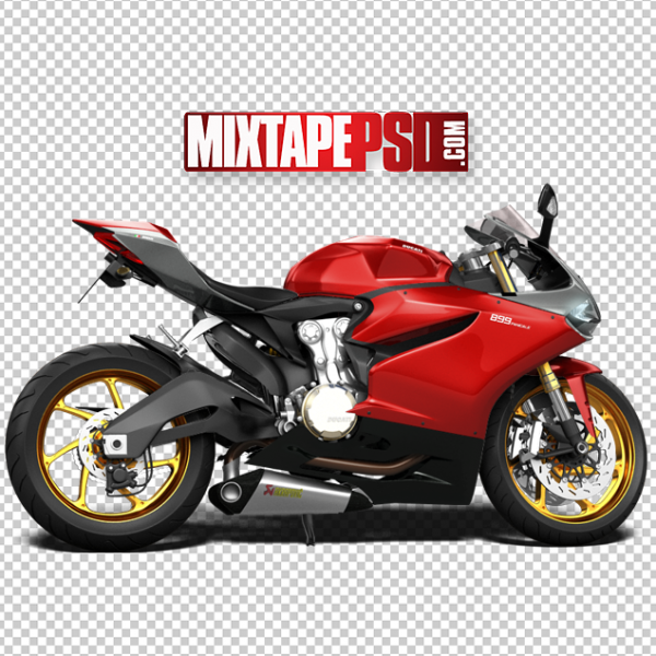 Red Ducati Motorcycle