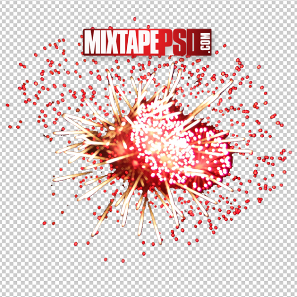 Red Fireworks Effect