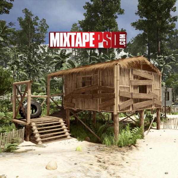 Tropical Village Background