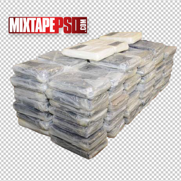 Cocaine Stacked Bricks PNG