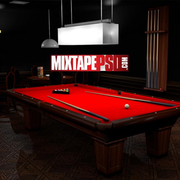 Empty Billiard Pool Room