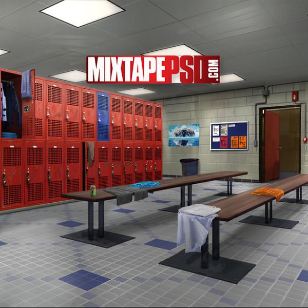 Empty Locker Room Background