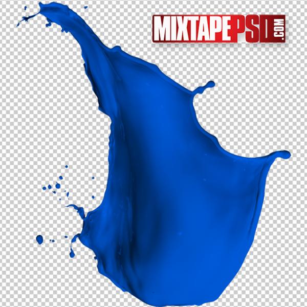 HD Navy Blue Paint Splatter