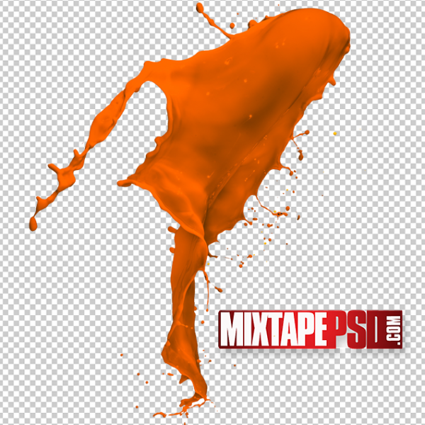 HD Orange Paint Splatter