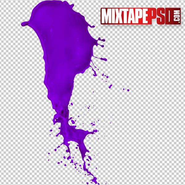 HD Purple Paint Splatter