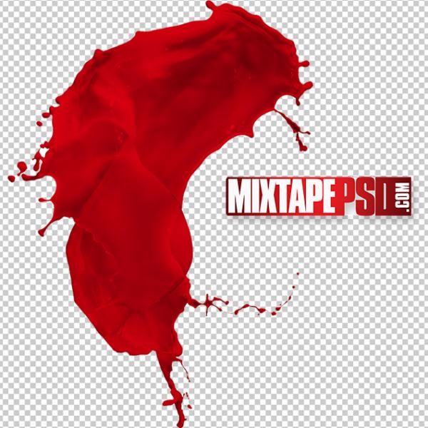 HD Red Paint Splatter
