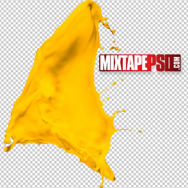 HD Yellow Paint Splatter